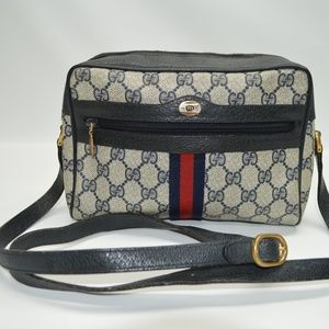 Gucci Vintage Monogram Red Stripe Shoulder Bag